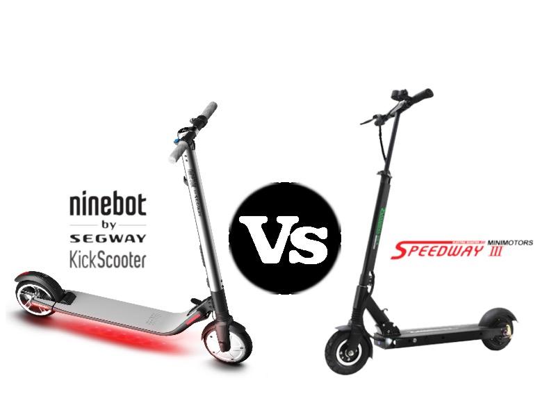 Segway Electric Kickscooter ES2 VS Speedway III - Segway